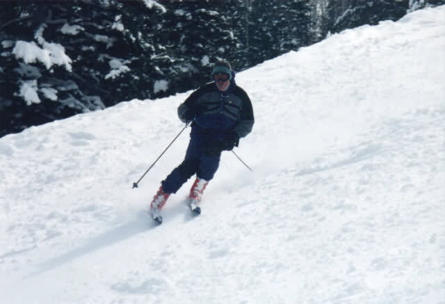 And I thought he'd never be able to ski again......